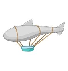 Flying dirigible icon cartoon style vector