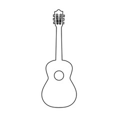 guitar line icon outline sign linear vector image