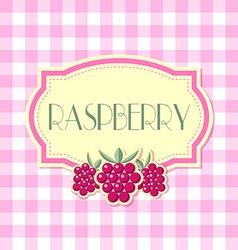Raspberry label vector image vector image