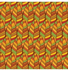 Vintage abstract autumn seamless leaves pattern vector image vector image