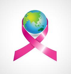 World cancer awareness ribbon vector image vector image
