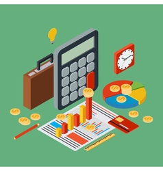 Business report financial statistic concept vector image