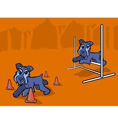 Dog Agility Training Cartoon vector image vector image