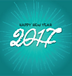 Happy new year background with decorative text vector image vector image