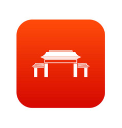 pagoda icon digital red vector image vector image