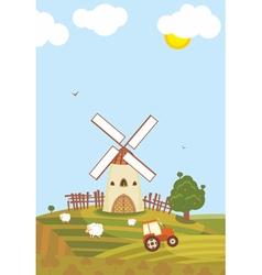 Summer Windmill vector image vector image