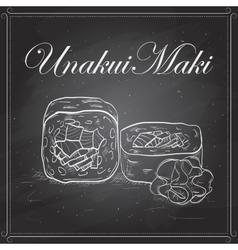 UnakuiMaki roll on a blackboard vector image vector image