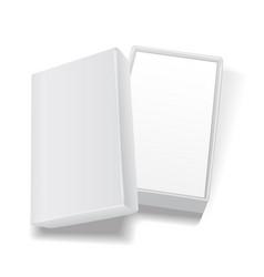 white open empty rectangular cardboard box vector image vector image
