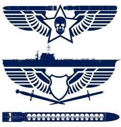 Abstract icons navy vector