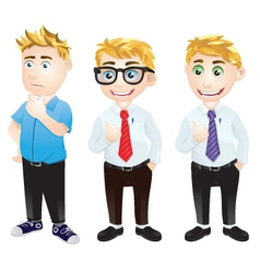 Character Office Worker vector image
