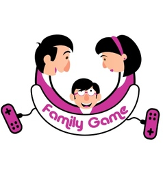 Family Game Console vector image