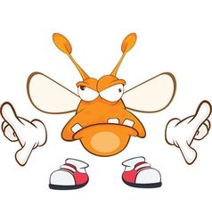 Funny clothes moth Cartoon vector image vector image