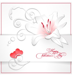 paper lily vector image