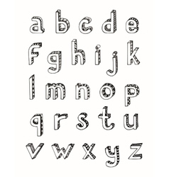 Sketch alphabet small letters vector image vector image