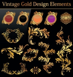 vintage gold design element vector image vector image