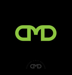 a m d monogram lines business green vector image