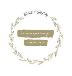 Beauty and care logo template set vector