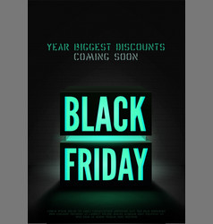 black friday year biggest sale poster vector image