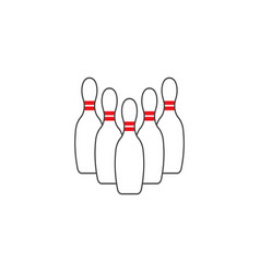 bowling icon design template isolated vector image