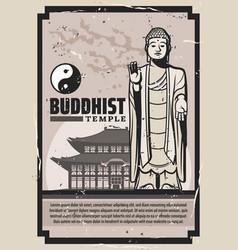 Buddhism religion buddha temple yin yang vector