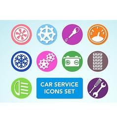 Car minimalistic icons set vector
