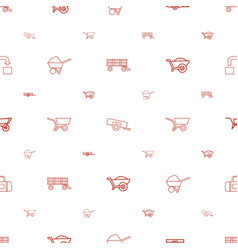 Carry icons pattern seamless white background vector