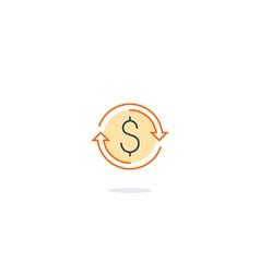 Cash back money return finance insurance vector