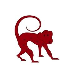 Chinese zodiac symbol red monkey vector image