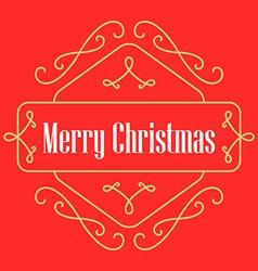 Christmas monograms festive card lineart holiday vector