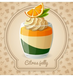 Citrus jelly card vector