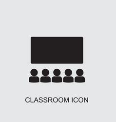 Classroom icon vector