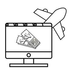 Computer with ticket vector