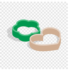 cookie cutters isometric icon vector image