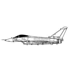 Eurofighter ef-2000 typhoon vector
