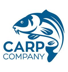 fish carp logo vector image
