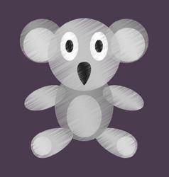 flat shading style icon koala toy vector image