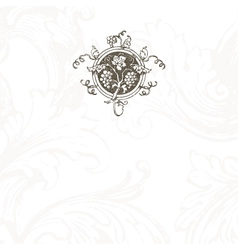 Floral Vine Menu Template vector image