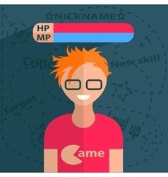 Gamer boy character vector image