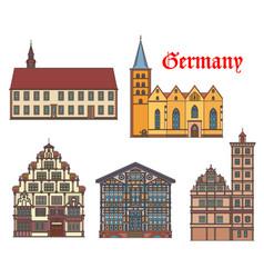 Germany landmark buildings architecture lemgo vector