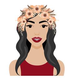 Girl with wreath vector