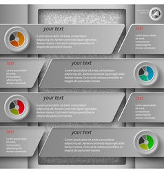 gray paper infographics1 vector image