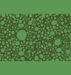 green circles animal skin seamless pattern vector image