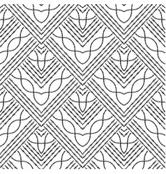 grunge embroidery zigzag tribal seamless pattern vector image