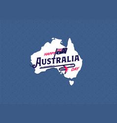 Happy australia day greeting card vector