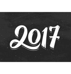 Happy new year 2017 greetings on black chalkboard vector