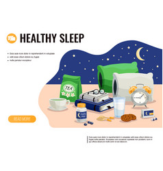 Healthy sleep vector