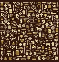 heraldic elements background vector image
