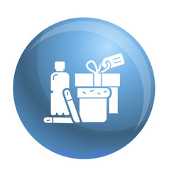 Homeless food help icon simple style vector