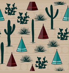 Indian tribal background simple flat wigwam vector