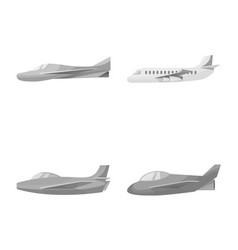 Isolated object aviation and airline logo set vector